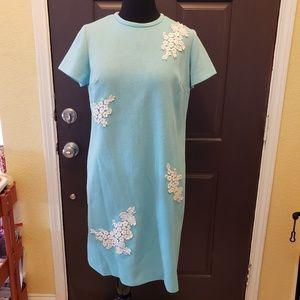 Dresses & Skirts - Vintage Light Teal Blue Dress Handmade